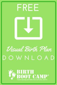 FREE Visual Birth Plan download  - use the template and icons to share your birth preferences with your OB or midwife!