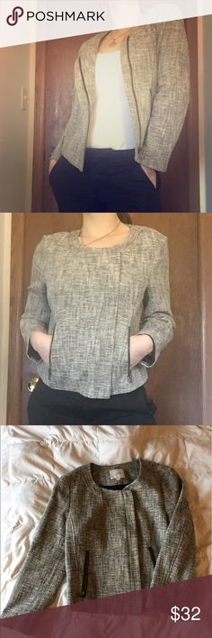Ann Taylor LOFT Tween Blazer Fabulous Ann Taylor LOFT Tweed Blazer. Side cut zipper and zip front pockets. Beautifully cut makes this jacket great for work or play. Excellent condition. Only worn a couple times. LOFT Jackets & Coats Blazers