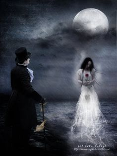 But our love it was stronger by far than the love    Of those who were older than we—    Of many far wiser than we— And neither the angels in Heaven above    Nor the demons down under the sea Can ever dissever my soul from the soul    Of the beautiful Annabel Lee;
