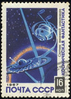 Awesome science fiction postage stamps from around the world-Soviet Union