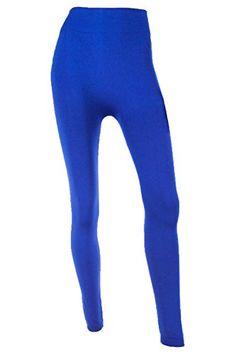 a00d5a5623ee Mopas Women s Fleece Lined Solid Color Full Length Leggings-Royal Blue  MOPAS http