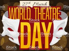 Special Night with Masks to Celebrate World Theatre Day World Theatre Day, Tragedy Mask, Comedy And Tragedy, Video Image, Free Vector Art, Photo Illustration, Image Now, Royalty Free Images, Masks