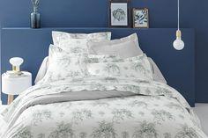 Coton percale de luxe mélange Valence feuilles et femme au foyer taies toutes tailles