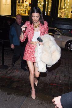 2/14/17: Kendall and Kaia Gerber leaving The Mercer Hotel in Manhattan.  http://kendallkeek.com