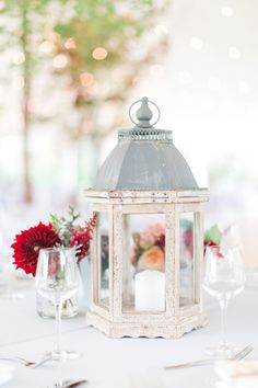 Rustic white washed lanterns! Red Maple Vineyard wedding by Cassi Claire (www.cassiclaire.com)