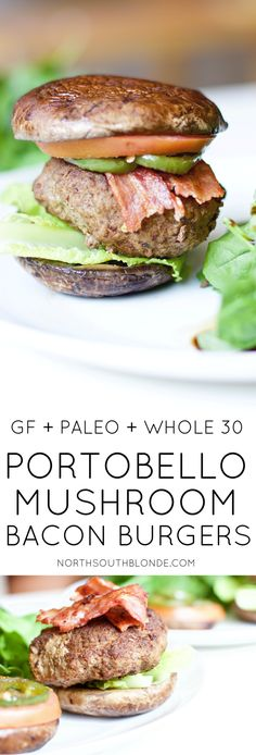 These homemade burgers are extremely juicy delicious and healthy. The ultimate paleo meal that's low in carbs and high in protein. Stay on track this summer with this wholesome yet satisfying lunch or dinner recipe! Clean Eating Recipes, Lunch Recipes, Summer Recipes, Paleo Recipes, Easy Recipes, Easy Meals, Recipes Dinner, Free Recipes, Paleo Whole 30
