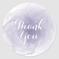 Shop Purple Watercolor Thank You Sticker created by istanbuldesign. Thank You Labels, Thank You Stickers, Thank You Cards, Diy Crafts For Gifts, Paper Crafts, Gift Wrapping Supplies, Logo Sticker, Top Gifts, Texture Art