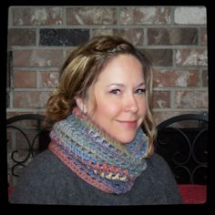 Crocheted Infinity Scarf by peacelovecreations on Etsy, $30.00