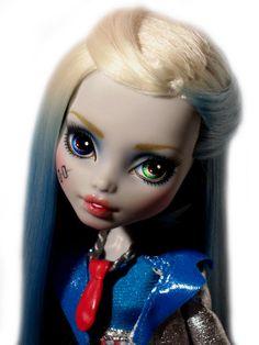 ☠ OOAK Custom Monster High Doll Repaint Frankie Stein Goth BJD Frankenstein ☠ | eBay