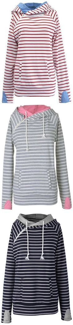 Hot sale at $34.99 with Free Shipping& Easy Returns! This casually cute sweatshirt is perfect for the fall transition.It has double fabric hood & Irregular zipper at front. Plus, the fabric is super soft and comfy! Pick up more at Cupshe.com !