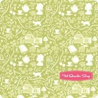 Anne of Green Gables Green Silhouette Yardage <br/>SKU