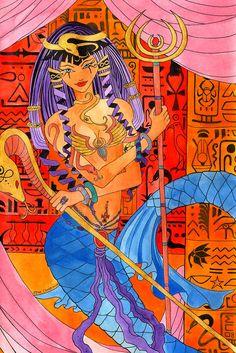 """""""Egyptian Queen Mermaid"""" by Elisa Chong"""