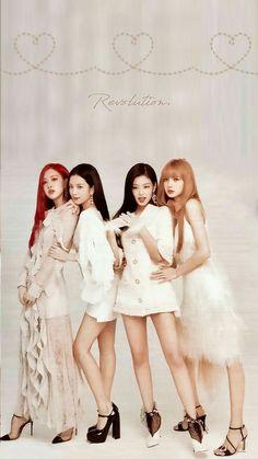Blackpink is the revolution Kpop Girl Groups, Korean Girl Groups, Kpop Girls, Lisa Blackpink Wallpaper, Black Pink Kpop, Blackpink Photos, Dibujos Cute, Blackpink Fashion, Jennie Blackpink