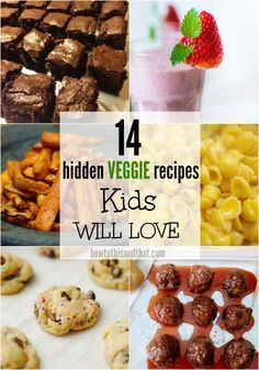 Kids Meals Does your child hate eating his or her vegetables? Check out these amazing hidden vegetable recipes for kids, they won't even know they are eating veggies! - A great bite-sized snack or a delicious side dish! Vegetable Recipes For Kids, Vegetarian Meals For Kids, Kids Cooking Recipes, Healthy Meals For Kids, Baby Food Recipes, Kids Meals, Gourmet Recipes, Healthy Snacks, Snack Recipes