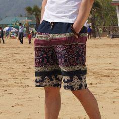 Men linen shorts Ethnic (3 colors)