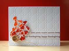 Happy Thanksgiving Card by Cristina Kowalczyk for Papertrey Ink (November 2012)