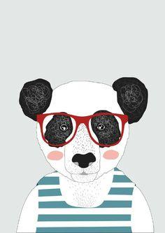 Mr. Panda Poster A4 from vanMariel ● Buy it at Troetel.com
