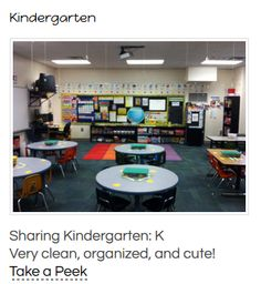 Preparing for Kindergarten- Classroom Set Up - Sharing Kindergarten