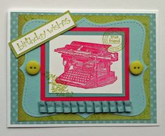 "Birthday Wishes   (Stampin' Up! ""Established Elegance"" stamp set)"