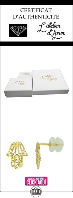 Pendientes de oro amarillo, diseño de mano de Fátima  ✿ Joyas para mujer - Las mejores ofertas ✿ ▬► Ver oferta: https://comprar.io/goto/B01674BH8G