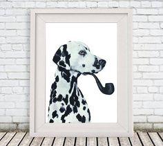 Dalmatian Print, dalmatian Illustration Art #art #printmaking @EtsyMktgTool http://etsy.me/2f0cxVR