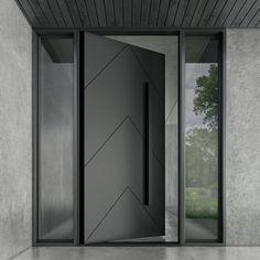 Modern Entrance Door, Main Entrance Door Design, Modern Exterior Doors, Modern Front Door, Front Door Design, House Entrance, Entrance Doors, Front Entry, Contemporary Front Doors