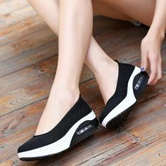 Shoe Type: Casual Shoes Toe Type:Round Toe Closure Type: Slip On Heel Type:Platform Heel Height: 5cm Gender: Female Occasion: Casual Season: Summer,Autumn Color: Black,Rose,Gray Material: Upper Material: Mesh Outsole Material: Rubber Package included: 1*pair of shoes(without box) Please Note: 1.Please see the Size Reference to find the correct size. 2.The size of these shoes are smaller than ordinary, we suggest buying a bigger one size.