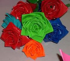 Duct tape roses.. maybe oyu could make fun hair pieces...or party favor's! Or just for fun!