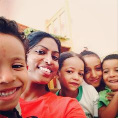 A family lunch for Divya with some adorable kids