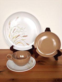 Set of 3 Melmac dinnerware vintage plastic by BellBottomVintage & Vintage Bowls Set of 2 Stetson Celestial Vintage Dinnerware ...