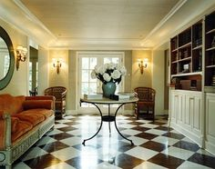 Gorgeous Entry. Love the floor. Kemble Interiors.
