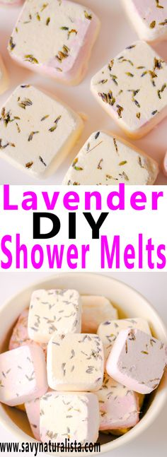 Lavender Shower Melts, Diy And Crafts, Soothing, calm and invigorating Shower melts are made with pure lavender essential oils. Diy Fashion Projects, Cool Diy Projects, Doterra, Shower Bombs, Bath Bombs, Homemade Scrub, Homemade Gifts, Shower Steamers, Natural Exfoliant