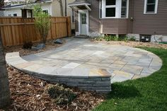patio/patio wall - this could work where we need a retaining wall ... love the circle also ... @Kate Stadulis, tell Joey he's going to be busy next spring :)