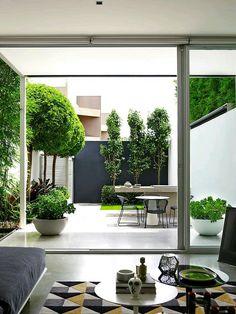 130 perfect small backyard & garden design ideas page 25 Small Backyard Gardens, Small Backyard Landscaping, Garden Spaces, Backyard Patio, Landscaping Ideas, Patio Ideas, Small Courtyard Gardens, Pergola Patio, Terrace Garden