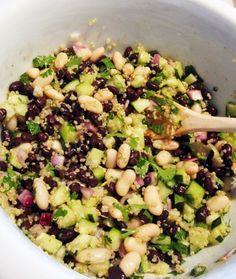 Tasty, Yummy Food, Bean Salad, Salad Bar, Cookbook Recipes, Healthy Choices, Protein, Clean Eating, Beans
