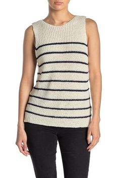 Stripe Sweater Tank Top
