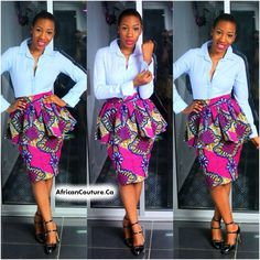 African Couture - NEW Eki African Print Skirt, $68.99 (http://www.africancouture.ca/new-eki-african-print-skirt/)