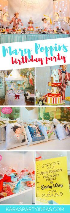 Mary Poppins Birthday Party via Kara's Party Ideas - KarasPartyIdeas.com