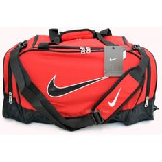 4f934bf60e Nike Brasilia 5 Red and Black Medium Duffel Bag for gym or travel for   40.00 at