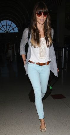 Jessica Biel's effortless travel style...