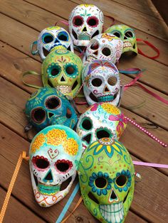 This is my latest batch of mask.  you can find most of them on my Blue Goose studios  Esty shop. They are going fast!