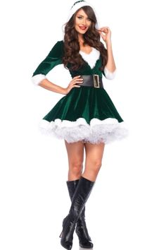y Mrs Santa Claus Outfit Womens Christmas Costume