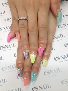 Pastel Nails for Summer #mani #pedi #naildesign ♥nail art #nail #nails #nailart #unha #unhas #unhasdecoradas #manicure #gmichaelsalon #indysalon #indianapolissalon www.gmichaelsalon.com