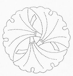 sashiko pattern, gingko mon Embroidery Patterns Free, Embroidery Stitches, Hand Embroidery, Machine Embroidery, Stitch Patterns, Hama Beads Patterns, Beading Patterns, Shashiko Embroidery, Boro Stitching