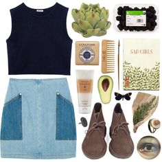 """sad girls"" by dazed-tea on Polyvore featuring clarks desert boots"