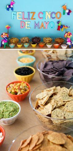 Cinco De Mayo party ideas.  Love the nacho bar idea! #EviteParty #FoodShouldTasteGood