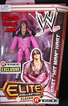 "Bret ""Hit Man"" Hart - Pink & Black Attack Elite Flashback Limited Edition Exclusive WWE Toy Wrestling Action Figure by Mattel! Wwf Toys, Figuras Wwe, Hitman Hart, Ready To Rumble, Wwe Action Figures, Wwe Elite, Wrestling Superstars, Royal Rumble, Professional Wrestling"