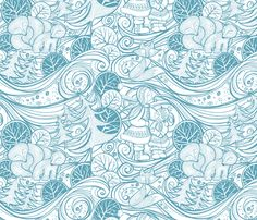 Winter Wilderness fabric by cjldesigns on Spoonflower - custom fabric