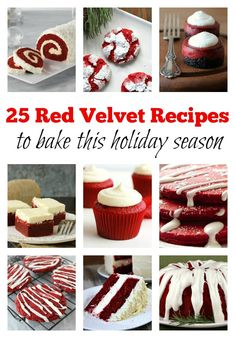 25 Red Velvet Themed Recipes : perfect recipes for making during the holiday season.