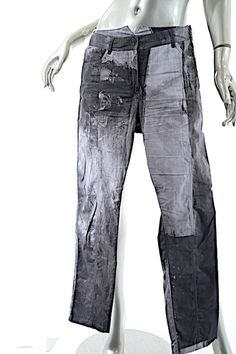 257b075fe15 Annette Görtz Grey Charcoal Cotton Blend Photographic Pattern Casual Pants  Size 8 (M